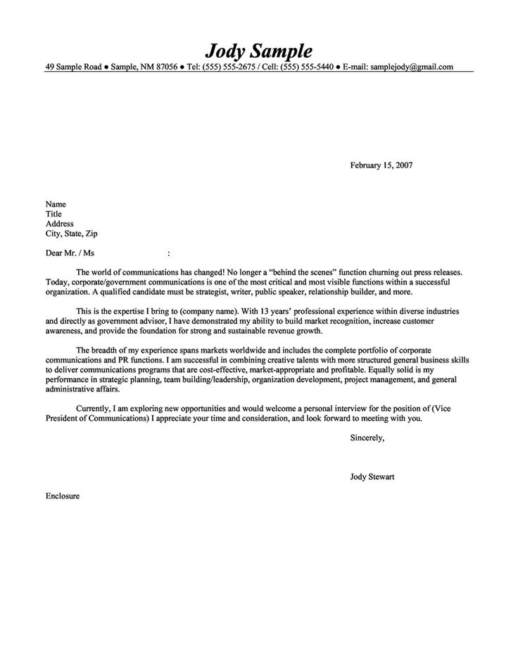 113 best cover letter images on Pinterest Cover letter for resume