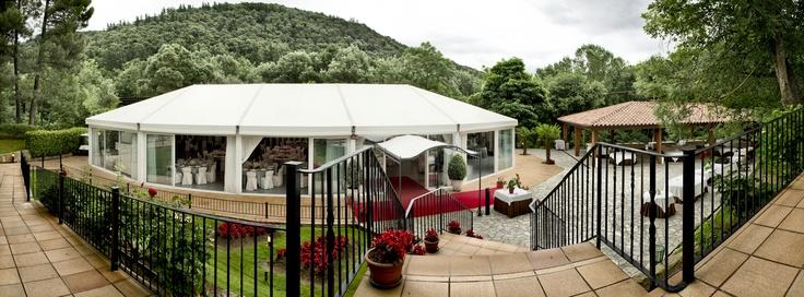 Entrada salón Garden @Can Marlet #events http://www.ruralmeeting.com/es/sala/can-marlet-montseny/