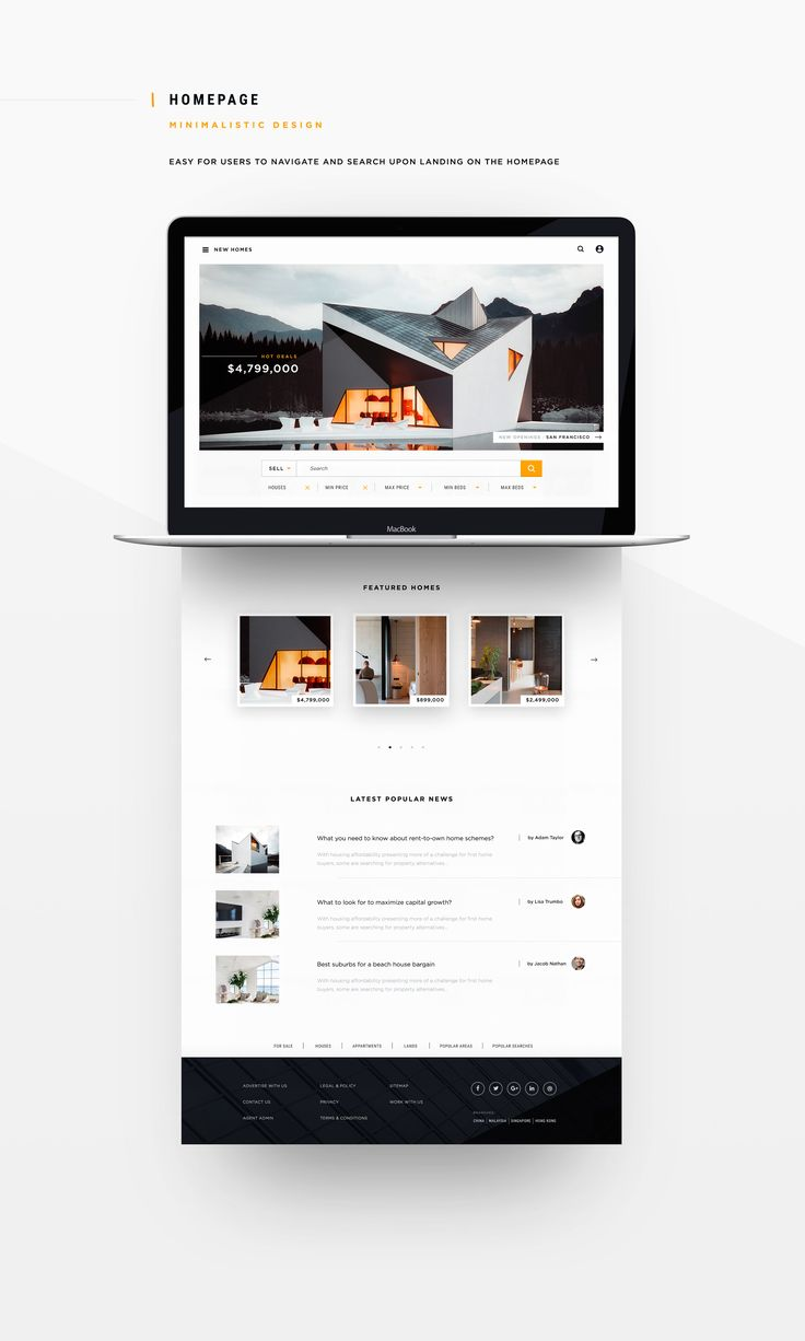 Rethinking Real Estate Websites on Behance in 2020 Real