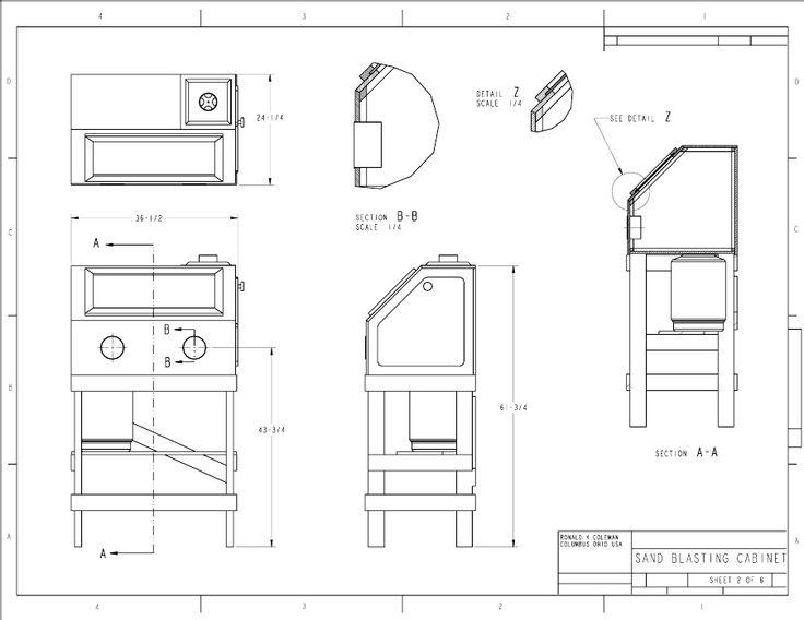 Popular Mechanics Plans Homemade Sandblasting Cabinet Blueprints