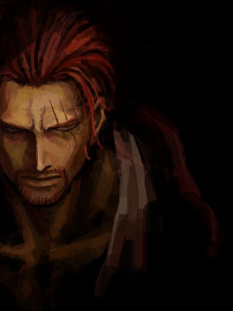 one piece, anime, manga, red haired shanks