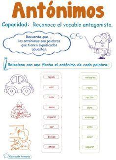 actividades de antonimos y sinonimos para niños - Buscar con Google
