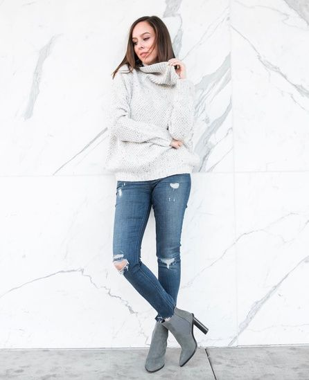 157e65c2b11 Shop the Look from Sydne Summer on ShopStyle. Cozy gray turtleneck and jeans   ShopStyle  shopthelook  fallstyle  MyShopStyle  OOTD
