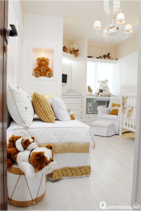 quarto bebe branco ursinhos