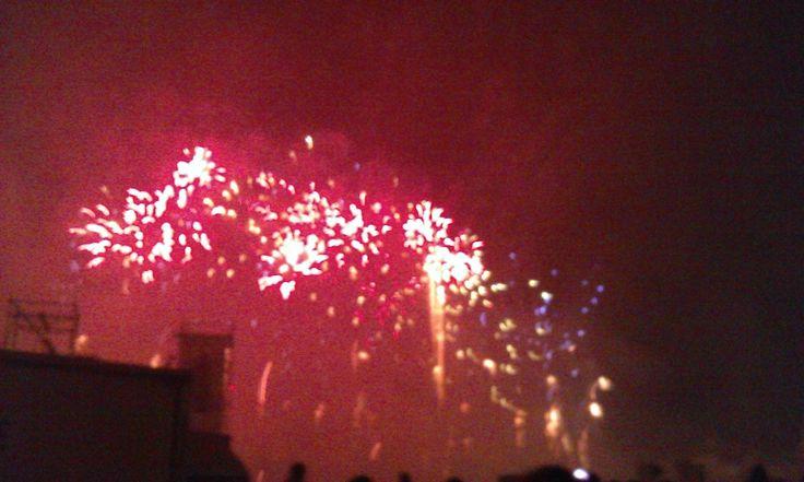 Fuochi d'artificio in Prato della Valle a ferragosto 2014 (5). #VivereArte #MichelaBusana