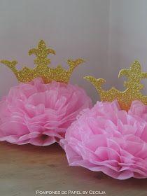 Pompones de Papel: Princesas