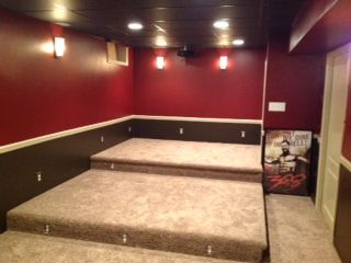 New Jersey Diy Home Theater Using Wahoo Walls For Three