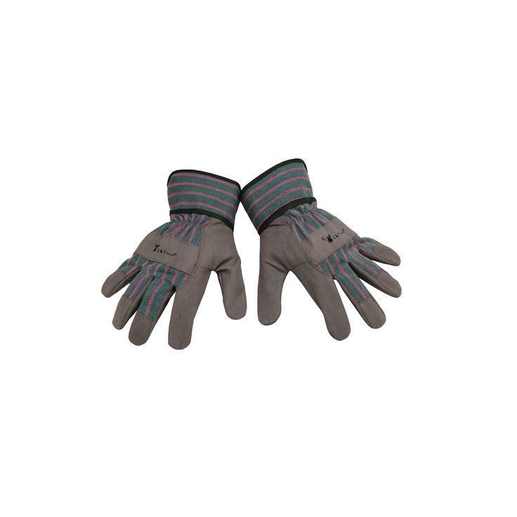 Synthetic Leather Kids Garden Gloves - Grey - Justforkids, Gray