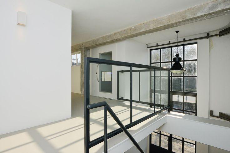Hallway, industrial home design