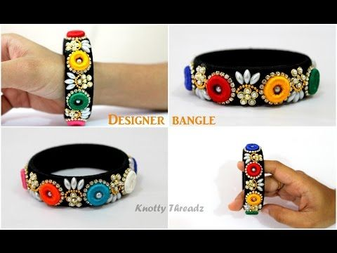 How to make Designer Silk Thread Bangle using Donuts | Multicolored | Tutorial | Knotty Threadz - YouTube