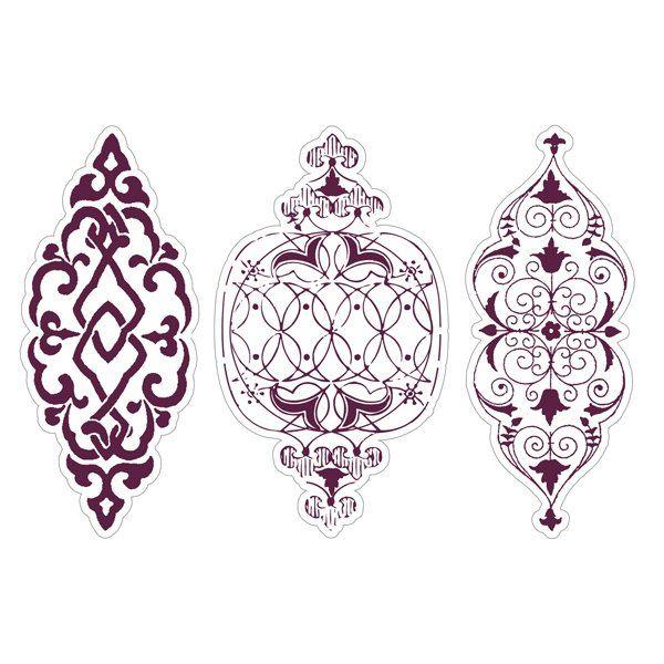Aladine Stampo Maxi Set Ornamenten bestaat uit drie stempels. Afmeting is 9cm breed en 12cm hoog.Groot formaat stempels gemaakt van stevig schuimrubber waardoor je een mooie en egale stempelafdruk kunt maken.