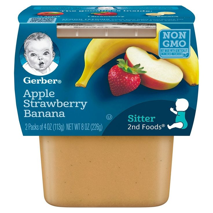 Gerber sitter 2nd foods apple strawberry banana baby meals