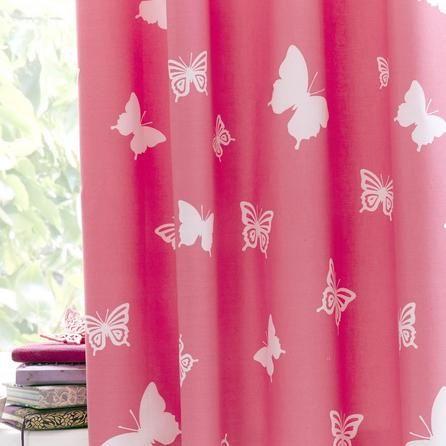 Kids Bright Butterflies Blackout Eyelet Curtains
