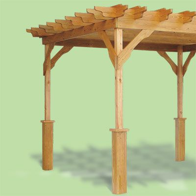 like the bigger, boxed legs of the pergola