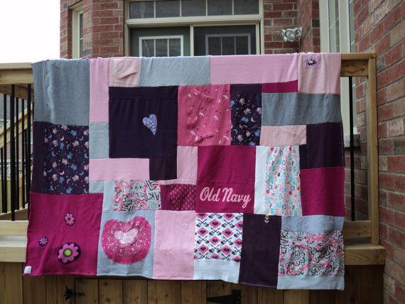 "blanket upcycle   Upcycled sweatshirt patchwork blanket ""Double Lollie"""