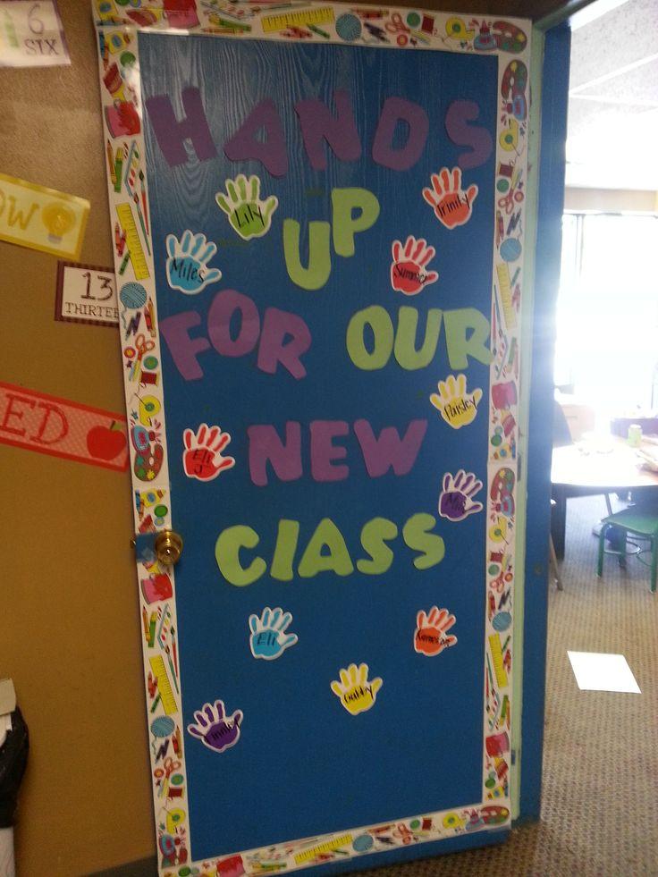 Back to school door door decor preschool pinterest for Back to school classroom door decoration ideas