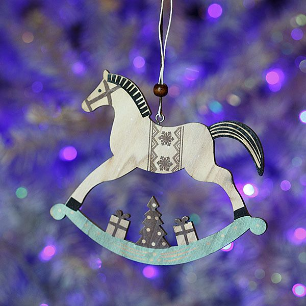 Χριστουγεννιάτικα Στολίδια : Ξύλινο αλογάκι