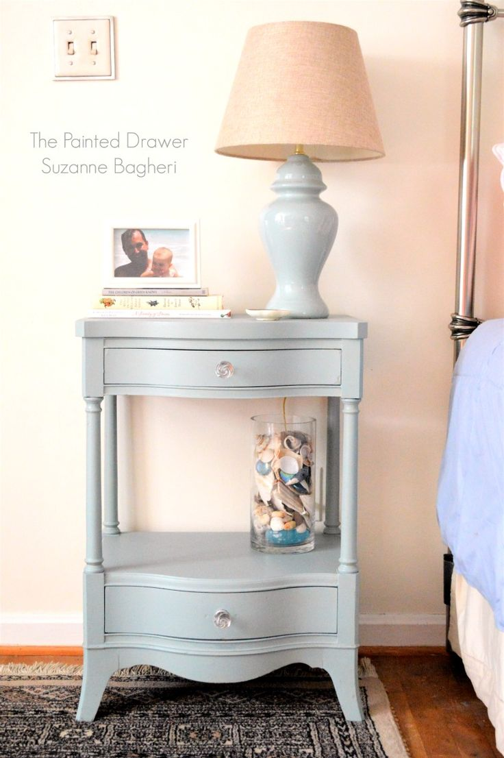 "Here is the ""after"" of the Drexel nightstand that I painted during the Hometalk LIVE video.  I put it in my bedroom and snapped a few pics to share!  For those who haven't seen th…"