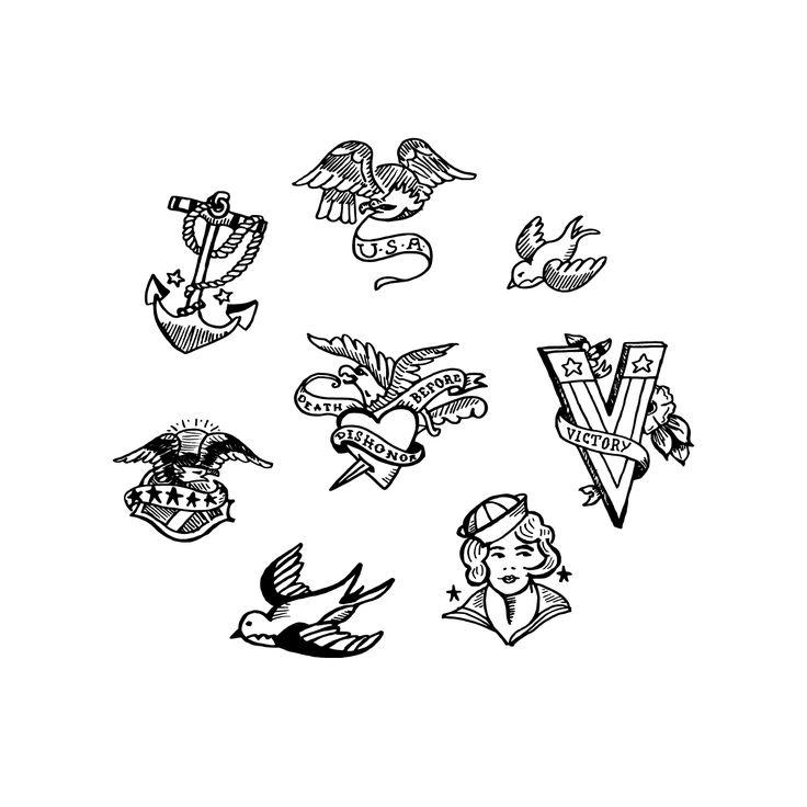 Tattoo Ideas Easy To Draw: Hand-Drawn Tattoo Flash