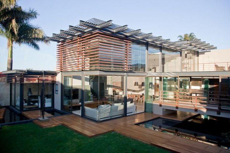 Horizontal wood screen.: There Meulen, Vans, Meulen Architects, South Africa, Architecture, Design