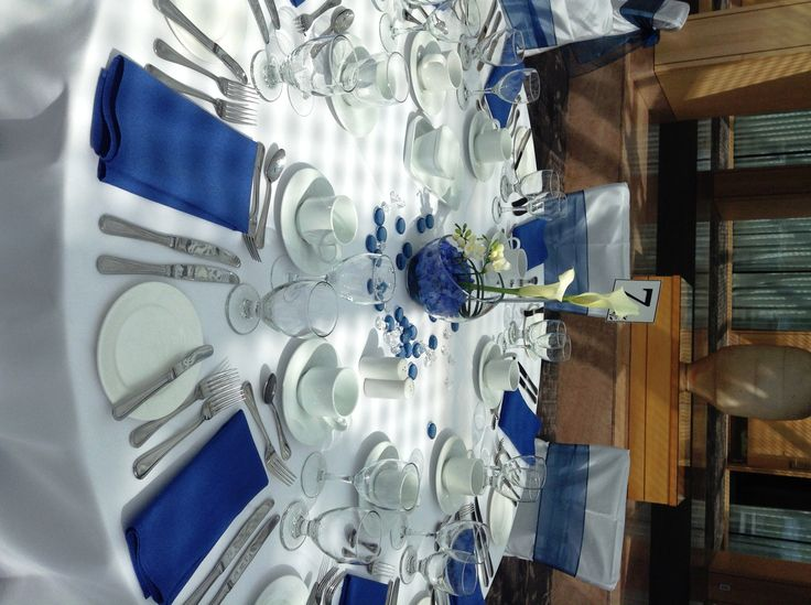royal blue wedding centerpieces pin it like image