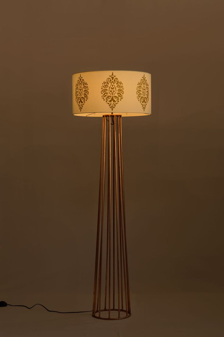 57 best floor lamps at the purple turtles images on pinterest tpt copper floor lamp material type fabric metal material copper finish greentooth Images