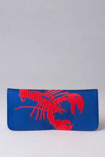 Belfast Embroidered Lobster Clutch