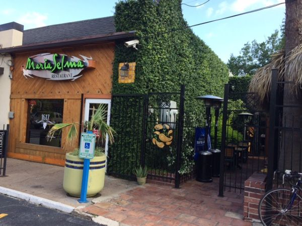 Check Out The Great Patio At Maria Selma In Montrose Houston!