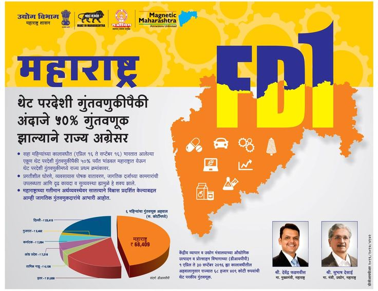 FDI एफडीआय midc Infographic, Government, Pie chart