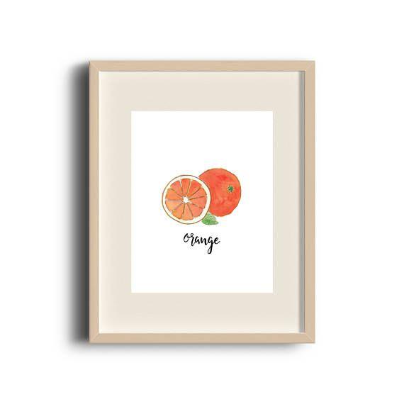 Orange   Orange Print   Orange Art   Orange Painting   Art Print   Illustration   Fruit Art   Etsy Store   by Élana Camille #ElanaCamilleCreates