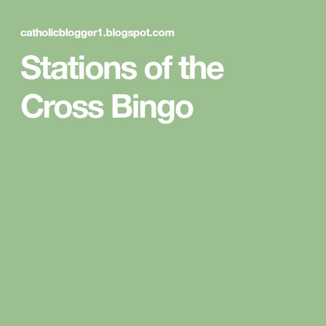 Stations of the Cross Bingo