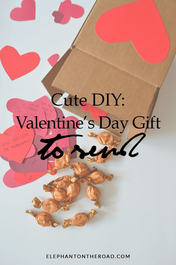 Cute DIY Valentine's Day Gift A Gift You Can Send. Long Distance Relationship Gifts. Elephant on the Road.