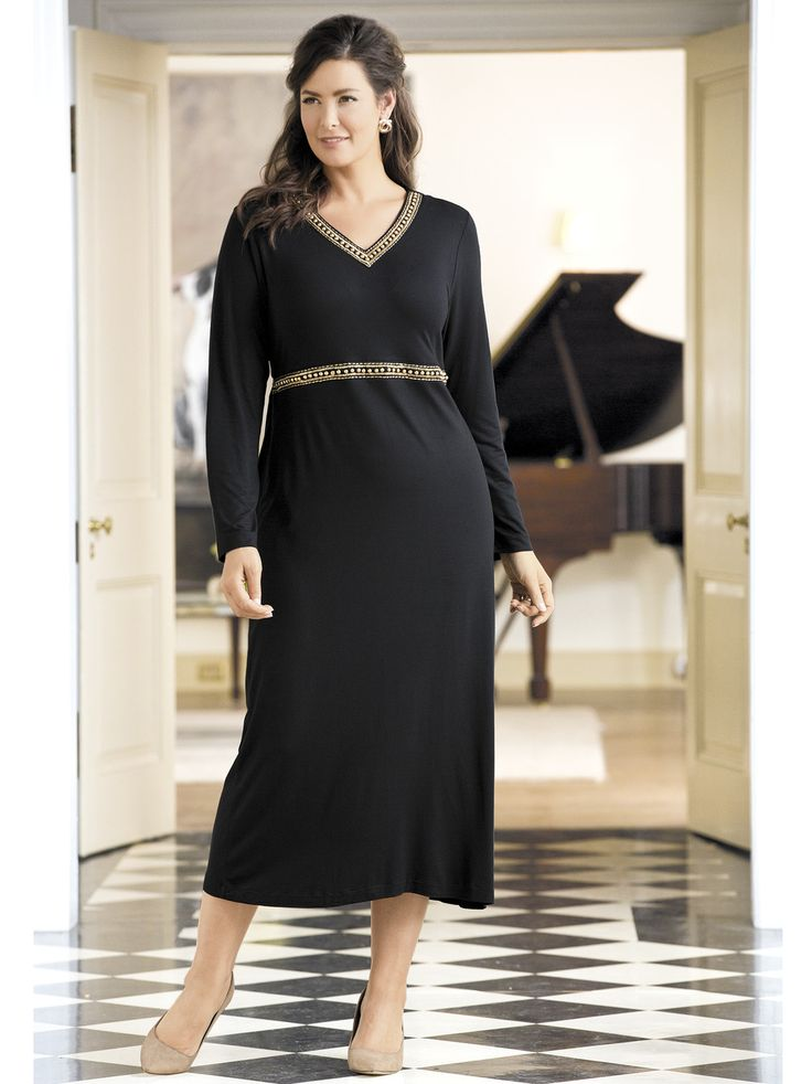 Women's #PlusSize Plaza Studded Knit #Dress