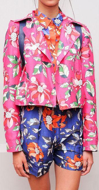 Ostwald Helgason Spring 2014 I love the pink jacket, and I like the shorts, but I hate them together.