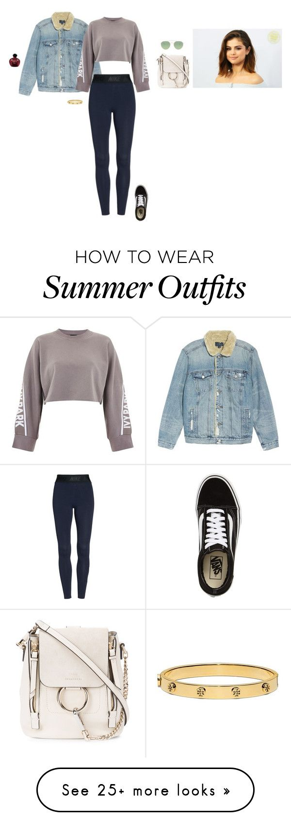 """""""Untitled #4361"""" by gracewirth101 on Polyvore featuring Lucky Brand, NIKE, Ivy Park, Vans, Chloé, Barton Perreira, Tory Burch and Christian Dior"""