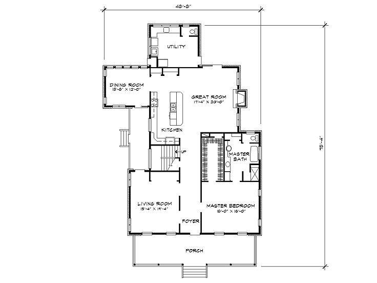 Utility/powder/ master bath/ secondary bath layout
