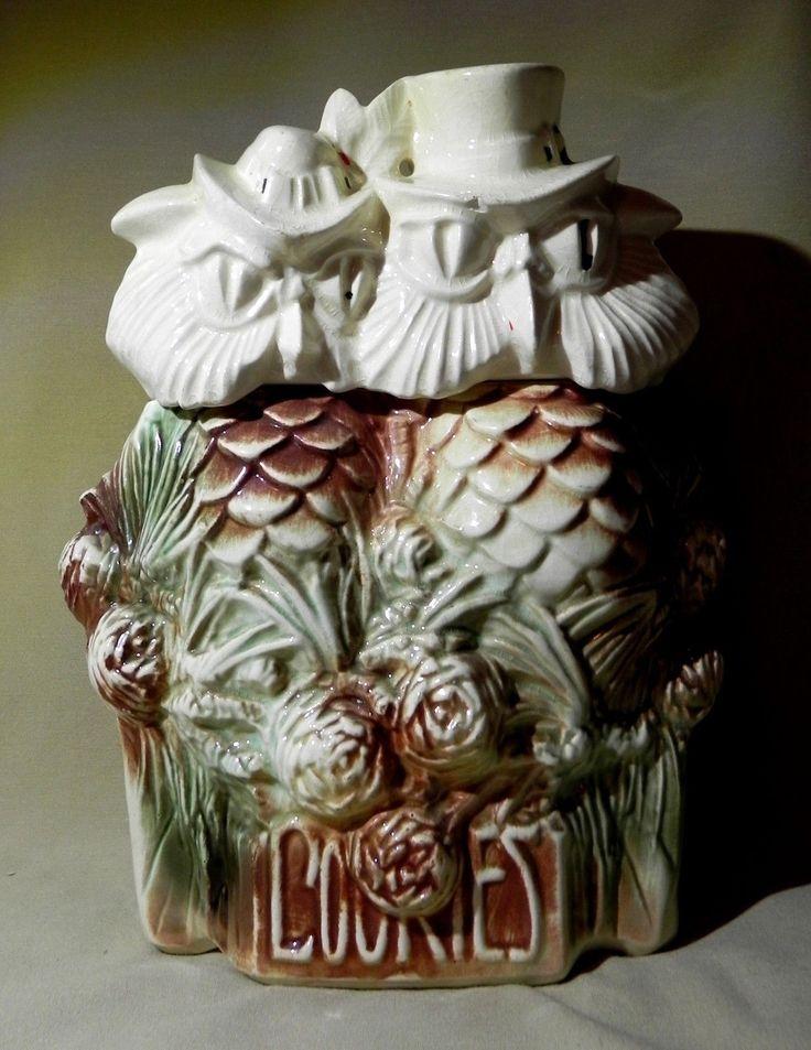 Vintage Cookie Jar Mccoy Pottery Mr Mrs Owl Ebay