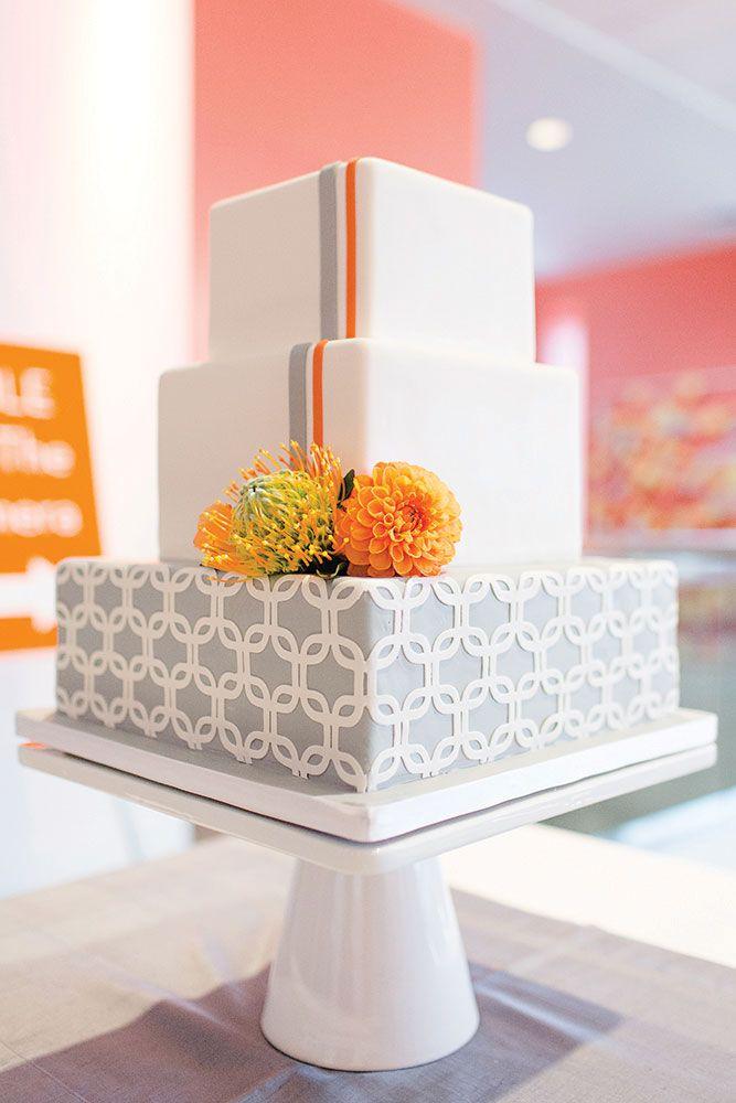 wedding cake - modern style