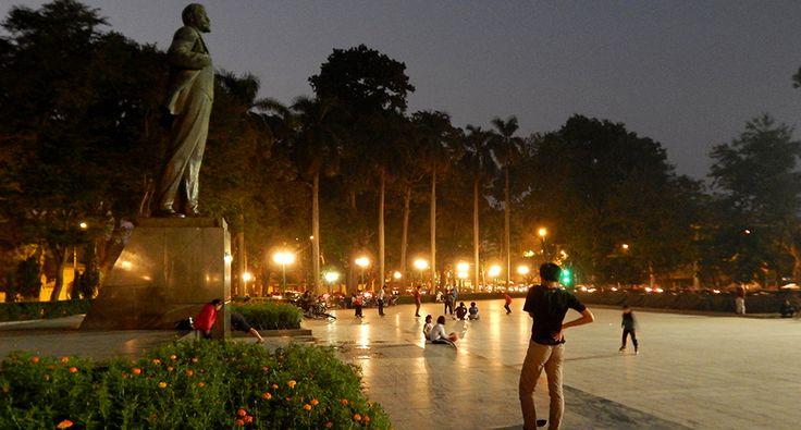 Leninův park v Hanoji. #hanoj #cestovani #park #travel #vietnam