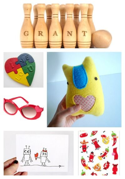 6 cool Valentine's gift ideas for kids. (Love the robot card!)