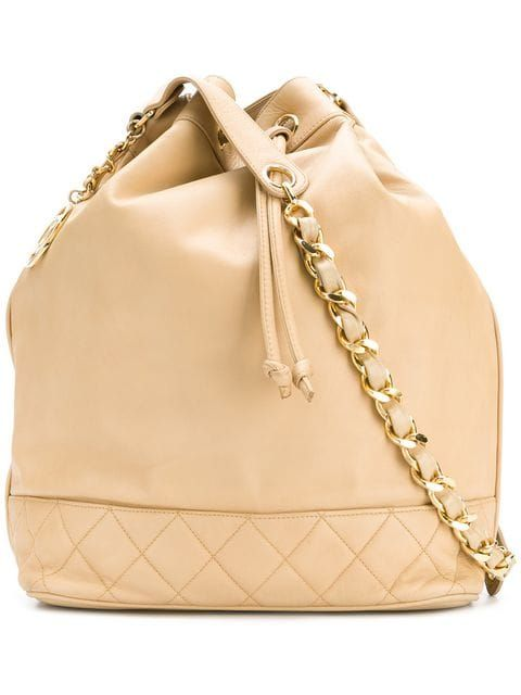 f93d674a24a0 Buy online Chanel Vintage CC drawstring shoulder bag for $2,739. Purchase  today with fast global delivery, new arrivals, new season