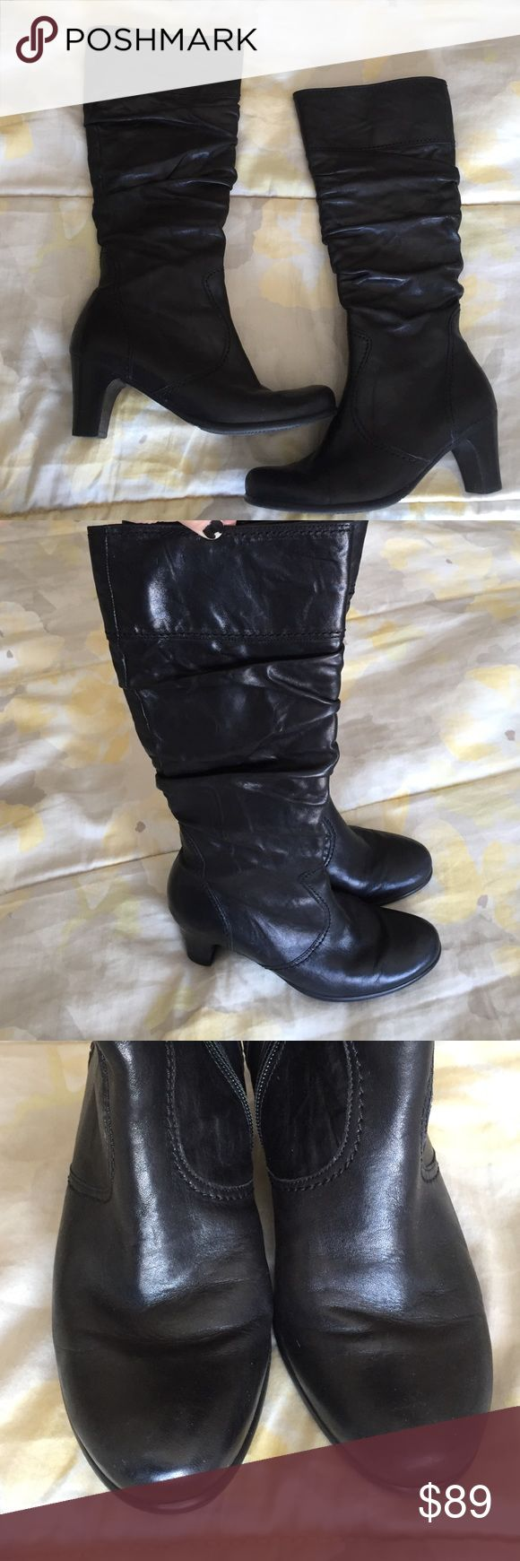 Gabor boots Black, barely worn-made in Portugal. Gabor Shoes Heeled Boots