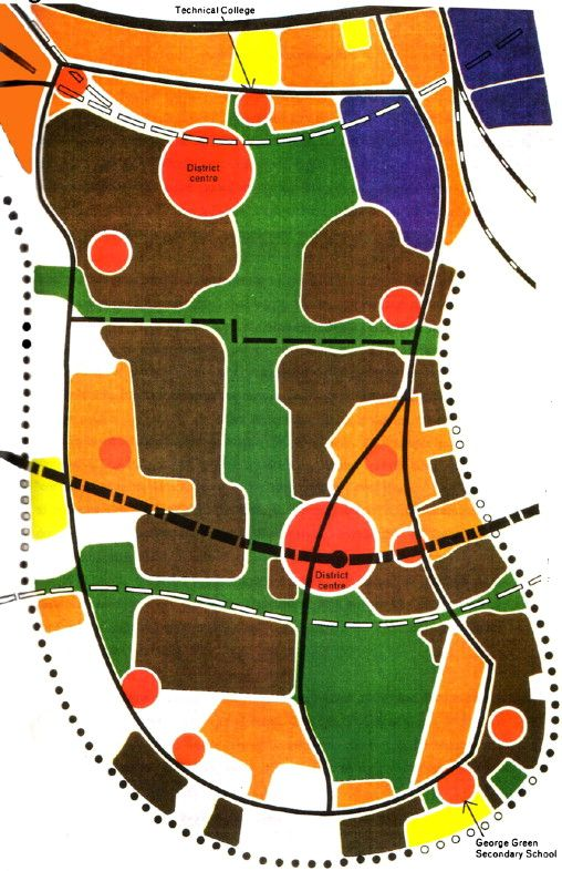 London Docklands strategic plan, proposals for the Isle of Dogs (1976)