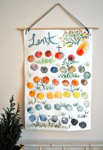 How beautiful!!  It's a visual walk through the days of lent to Easter.