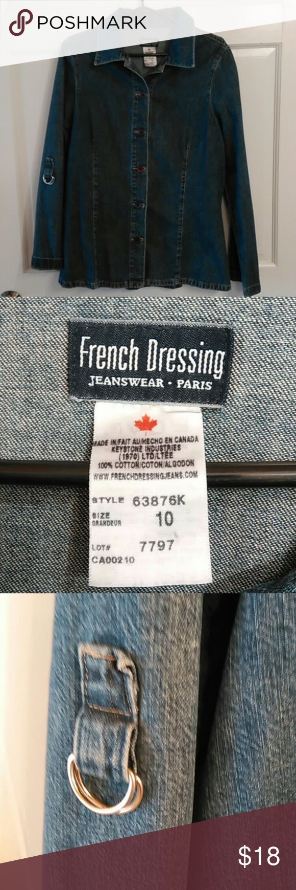 French Dressing Jean Jacket Brand new, no stains or rips; size 10 Jackets & Coats Jean Jackets