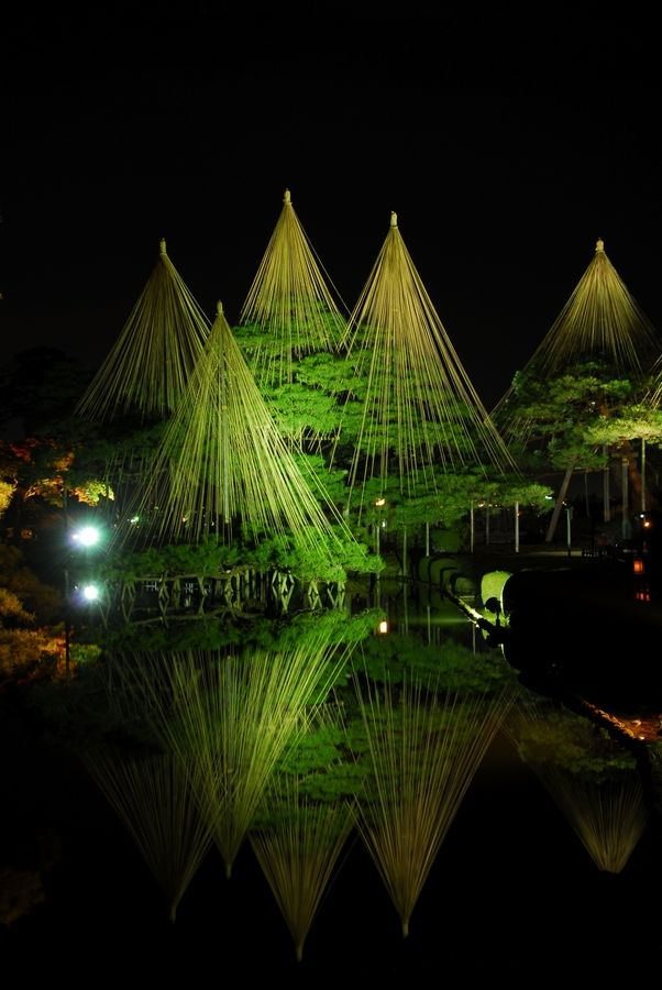Kenrokuen Garden, Kanazawa, Japan. Kenrokuen Garden is considered one of the three most beautiful gardens in Japan and is filled with a variety of trees, ponds, waterfalls, and flowers stretching over 25 acres. (V)