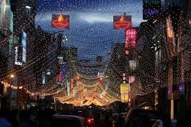 Image result for bangalore diwali street india