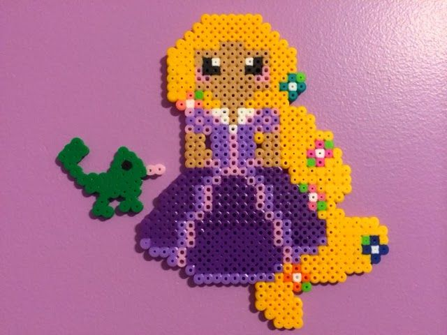 Rapunzel perler fuse beads by Amy Childs