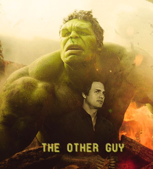 Bruce Banner/Hulk. I am in LOVE with Mark Ruffalo playing The Hulk! Yes!