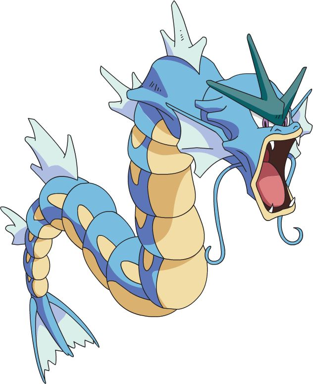 Pokédex entry for #130 Gyarados containing stats, moves learned, evolution chain, location, type weaknesses, other forms and more! | PokemonPets